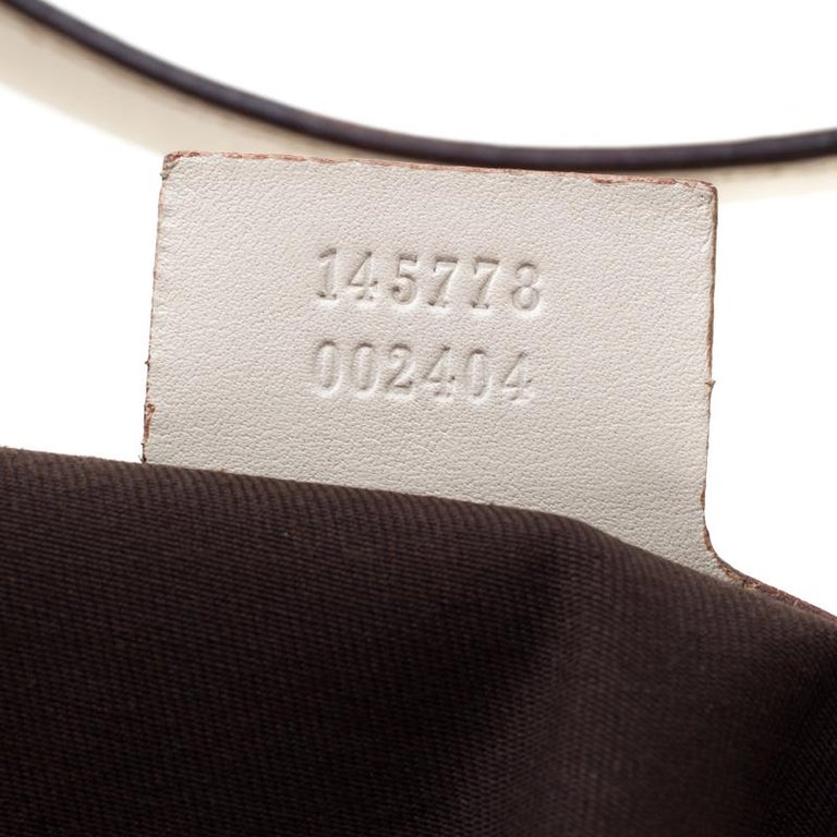 Gucci Cream Guccissima Leather Medium Jackie Hobo Bag For Sale 2