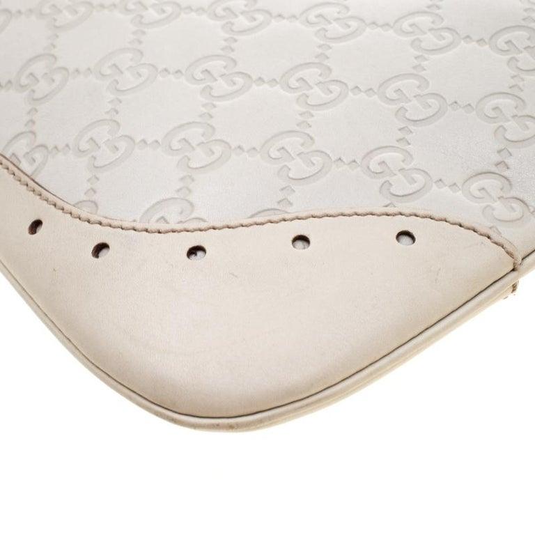 Gucci Cream Guccissima Leather Medium Jackie Hobo Bag For Sale 1