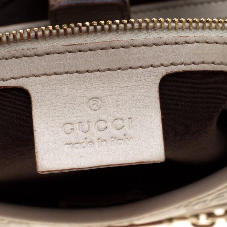 Gucci Cream Guccissima Leather Medium Jackie Hobo Bag For Sale 7