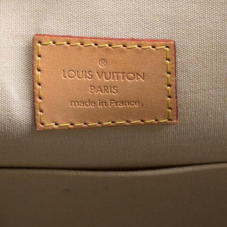 Louis Vuitton Perle Monogram Vernis Alma GM Bag For Sale 4