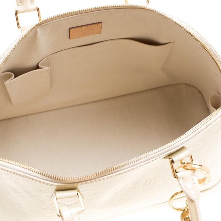 Louis Vuitton Perle Monogram Vernis Alma GM Bag For Sale 1