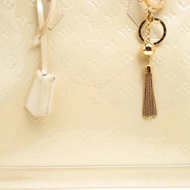 Louis Vuitton Perle Monogram Vernis Alma GM Bag For Sale 5