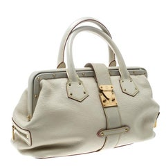 Louis Vuitton White Suhali Leather L'Ingenieux PM Bag