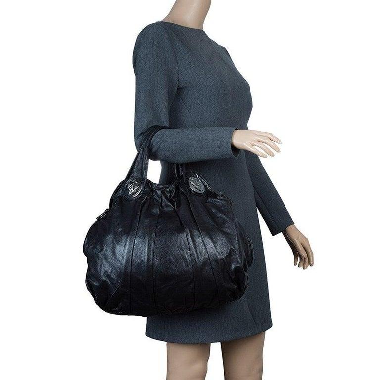 53524a6f1 Gucci Black Leather Large Hysteria Hobo In Good Condition For Sale In Dubai,  Al Qouz