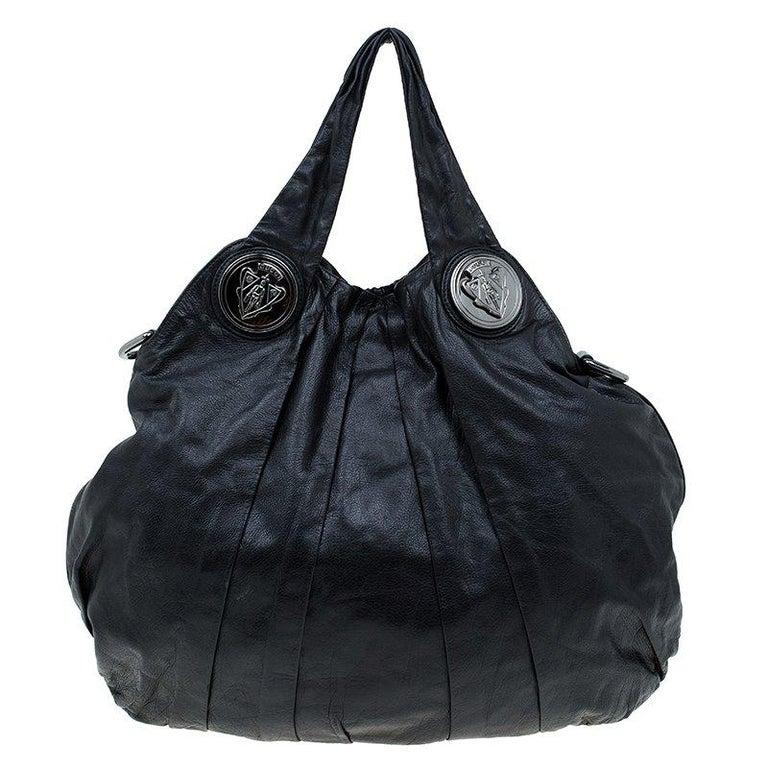 2b9b35e7e Gucci Black Leather Large Hysteria Hobo at 1stdibs