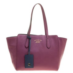 Gucci Pink Leather Small Swing Tote