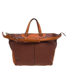Tod's Two Tone Leather Tote