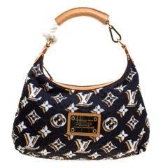 Louis Vuitton Navy Blue Monogram Fabric Limited Edition Bulles PM Bag