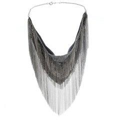 Isabel Marant Linares Handkerchief Silver Tone Bib Necklace