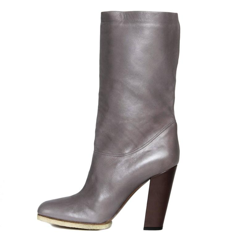 Lanvin Grey Leather Boots 4