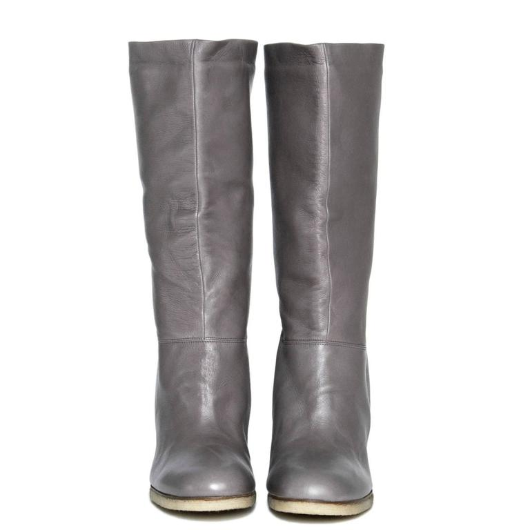 Lanvin Grey Leather Boots 2