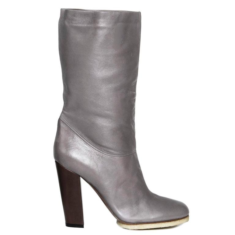 Lanvin Grey Leather Boots 3