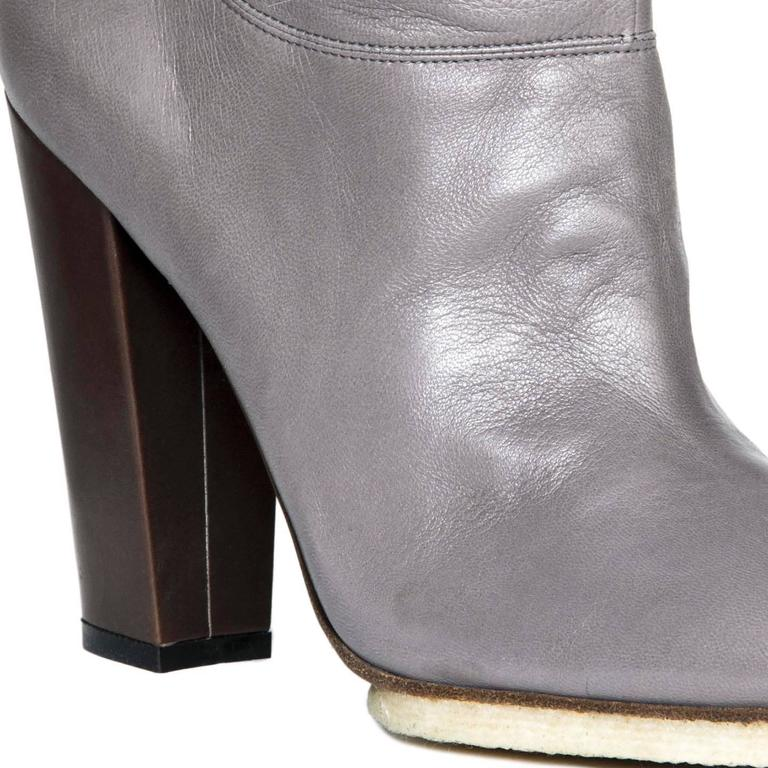 Lanvin Grey Leather Boots 5