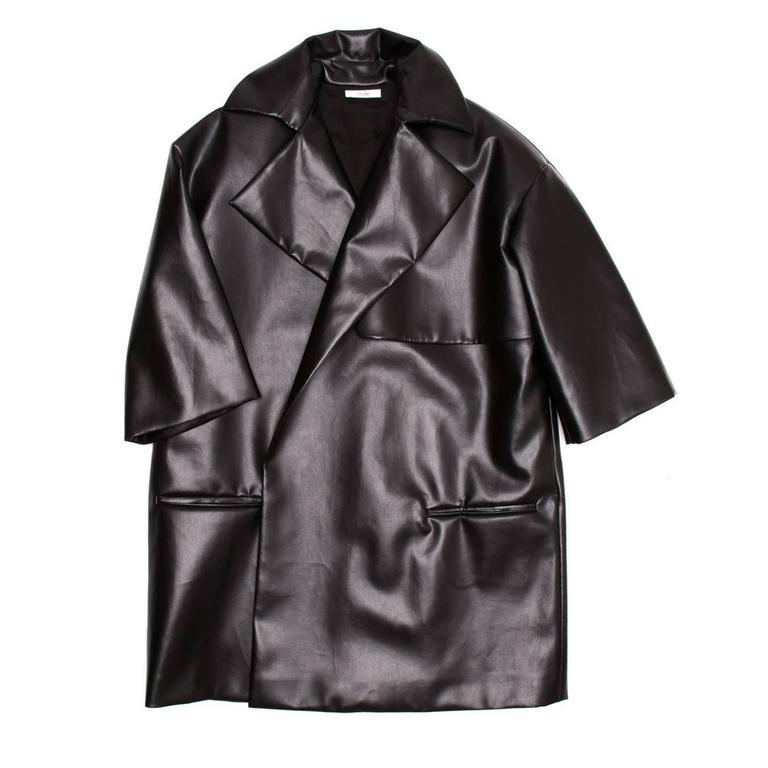 Celine Black Boxy Oversized Coat