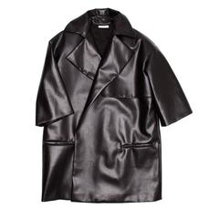Celine Black Boxy Oversized Coat