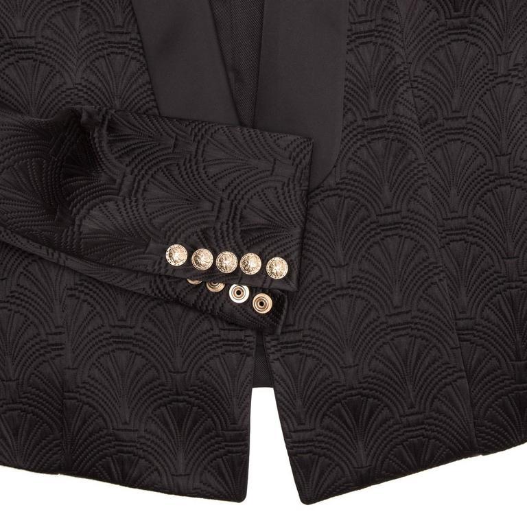 Women's Balmain Black Jaquard Tuxedo Jacket For Sale