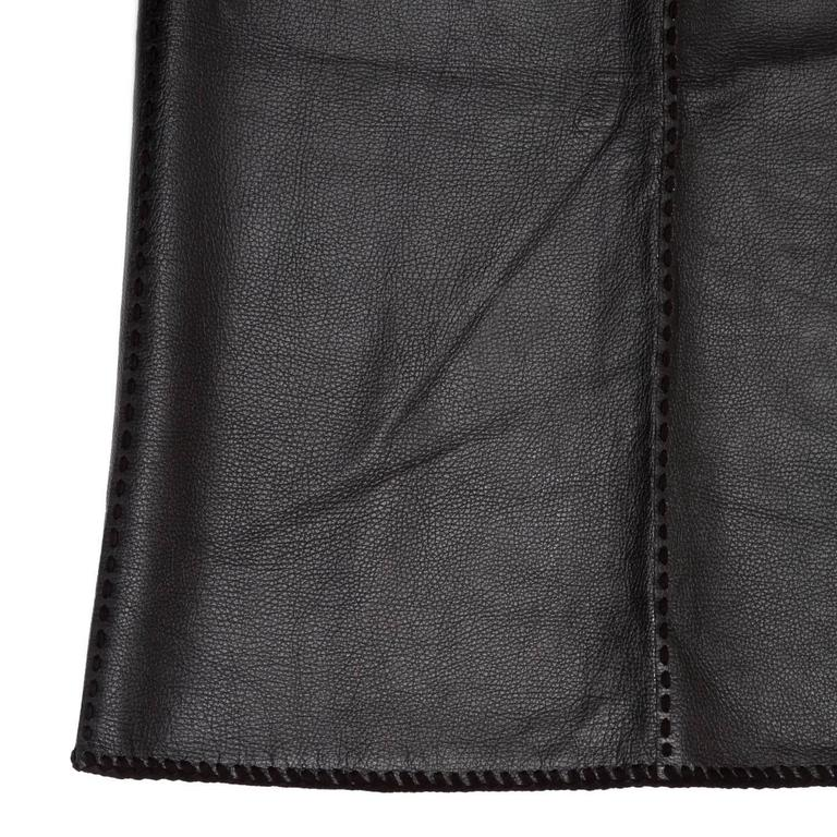 Women's Katayone Adeli Black leather Skirt For Sale