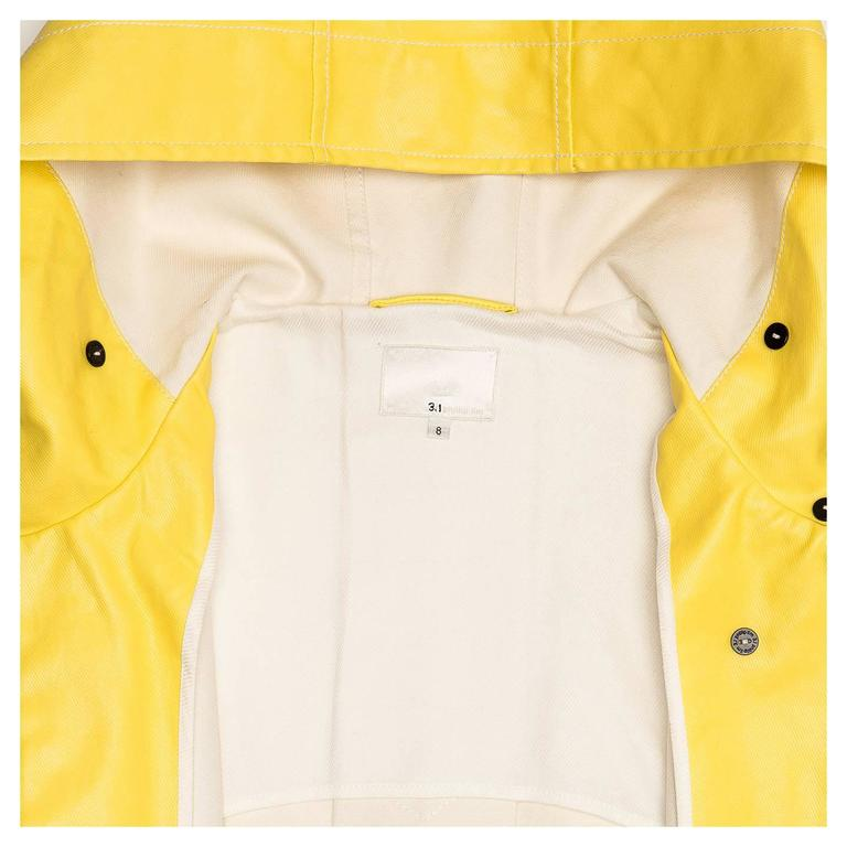 Phillip Lim Bright Yellow Sailor Slicker For Sale 1