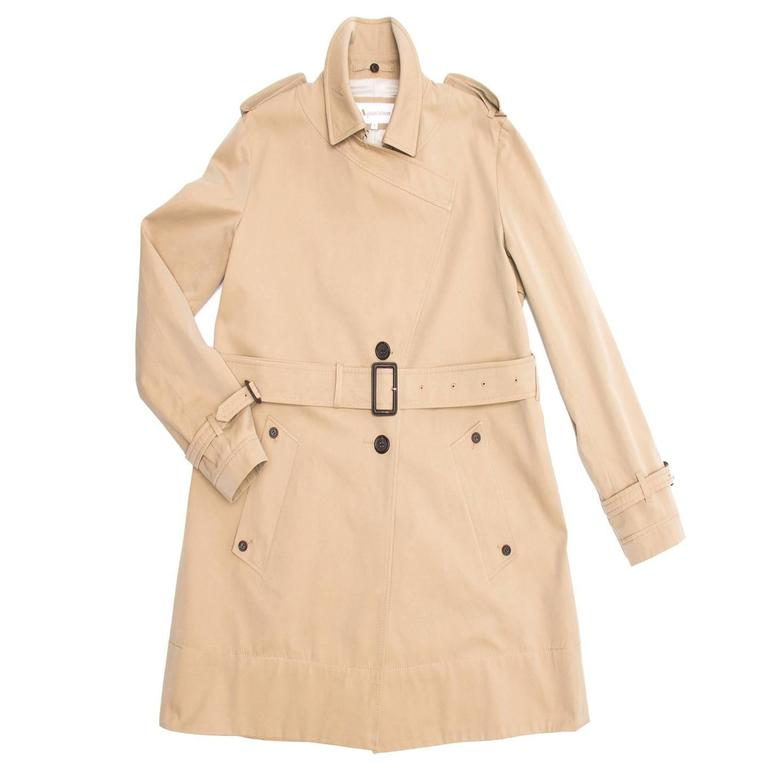 Aquascutum Khaki Jewel Collar Trench Coat 3