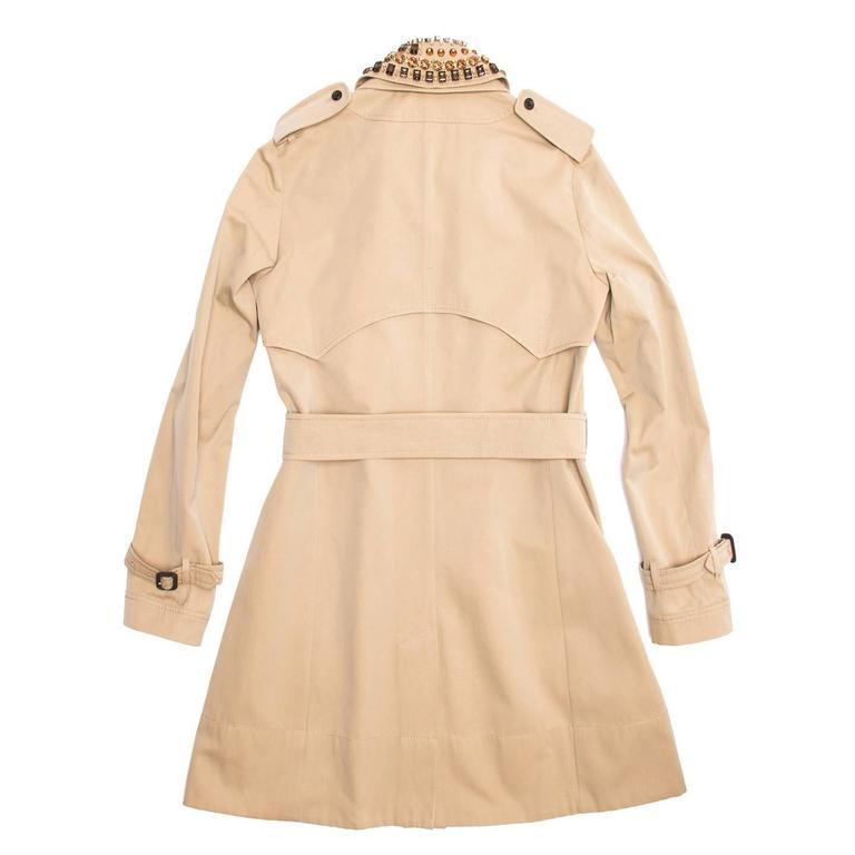 Aquascutum Khaki Jewel Collar Trench Coat 2