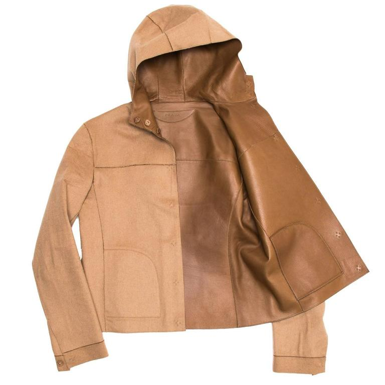 Prada Camel Hair & Leather Reversible Jacket 4