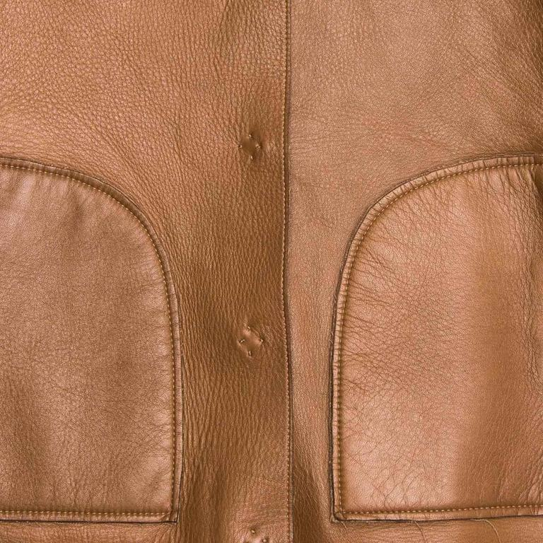 Prada Camel Hair & Leather Reversible Jacket 8