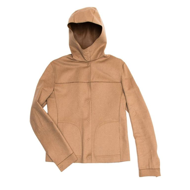 Prada Camel Hair & Leather Reversible Jacket 3