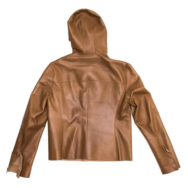Prada Camel Hair & Leather Reversible Jacket 5