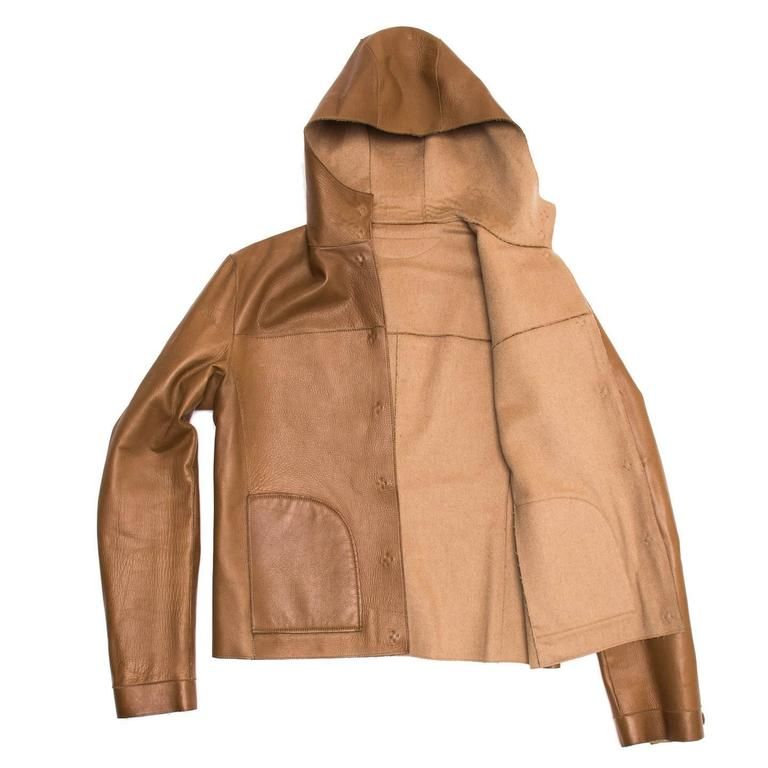 Prada Camel Hair & Leather Reversible Jacket 2