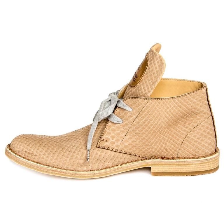 Brunello Cucinelli Tan Python Ankle Boots For Sale At 1stdibs