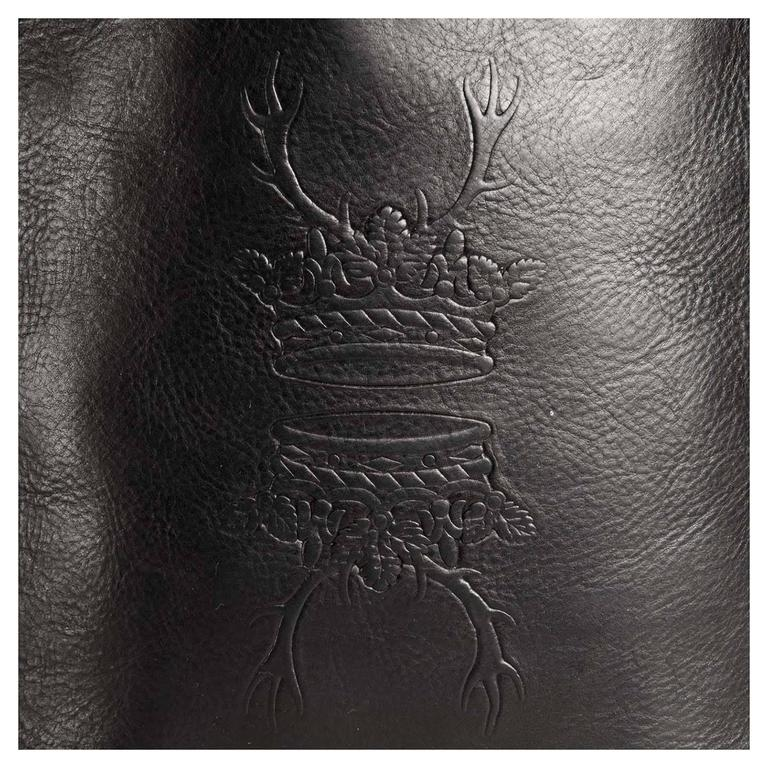 Fendi Black Leather Medium Tote Bag For Sale 1