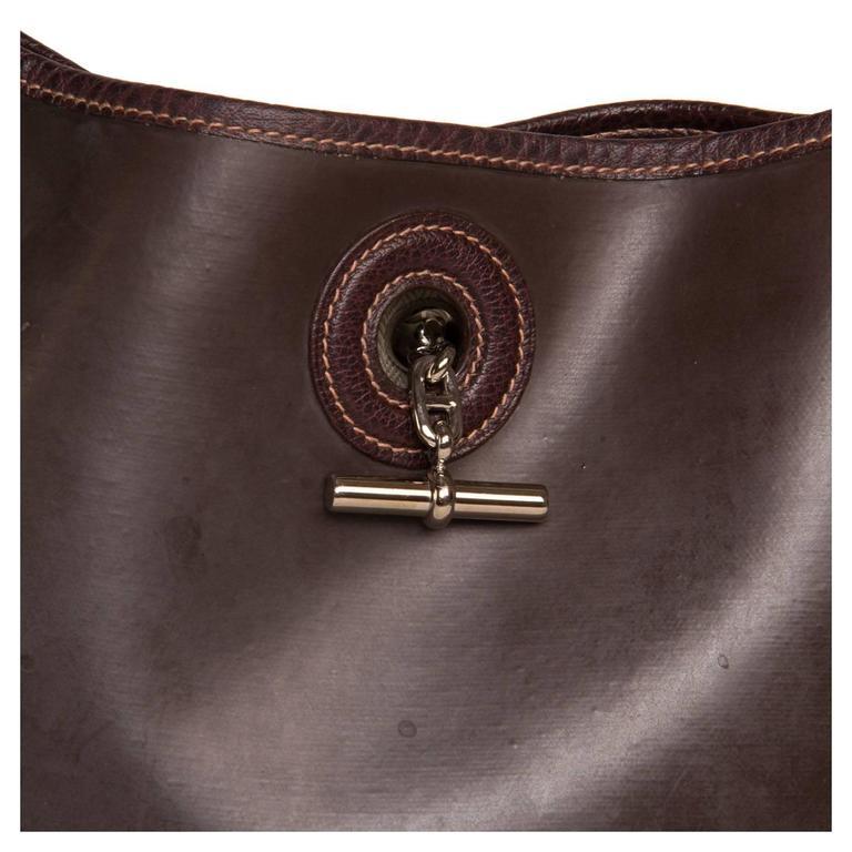 Hermès Brown Eco Leather Bag For Sale 1