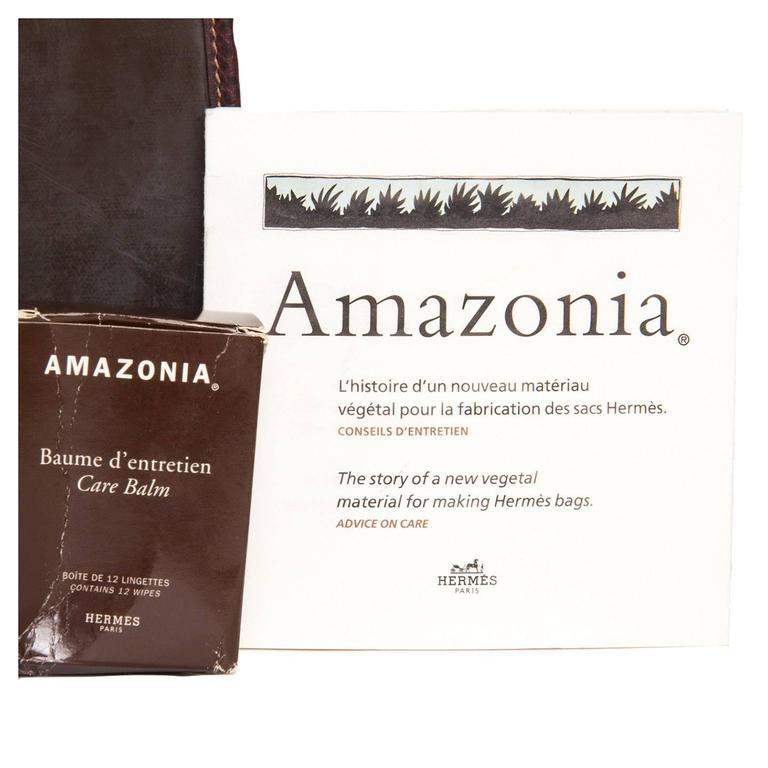Hermès Brown Eco Leather Bag For Sale 2