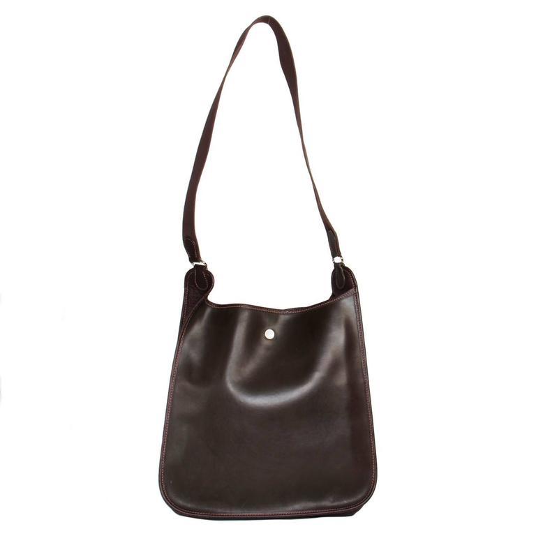 Black Hermès Brown Eco Leather Bag For Sale