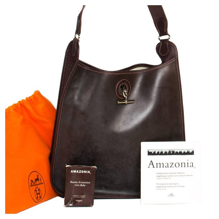 Women's Hermès Brown Eco Leather Bag For Sale