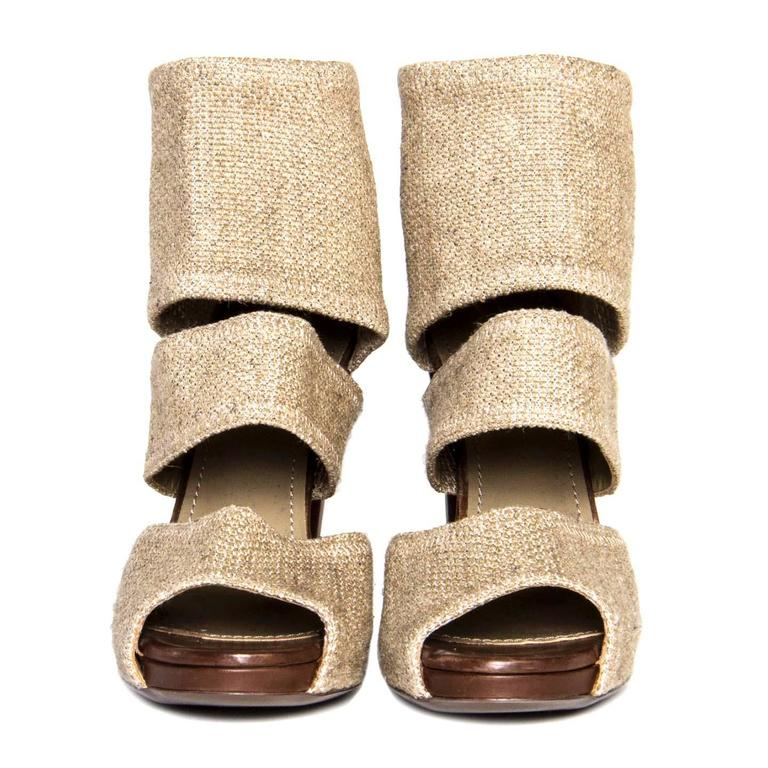 Yves Saint Laurent Beige Heeled Sandals 4