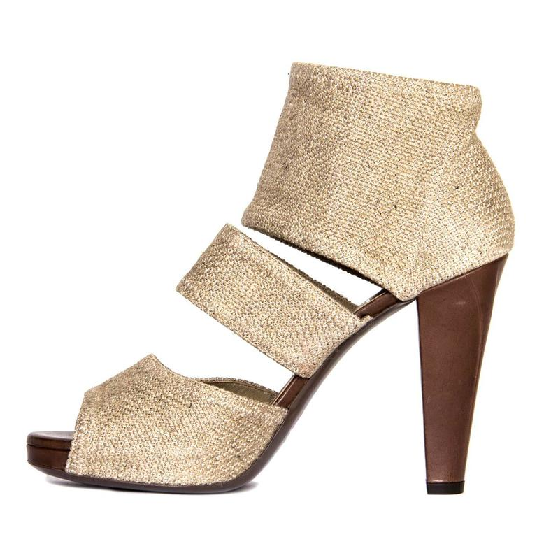 Yves Saint Laurent Beige Heeled Sandals 3