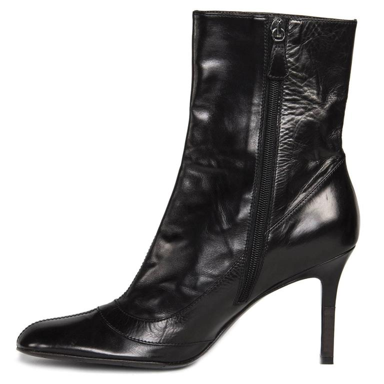 Women's Chanel Black Round Toe Boots For Sale