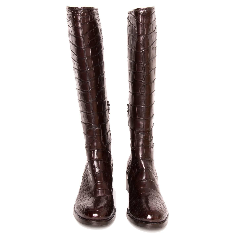 Knee High Kitten Heel Boots