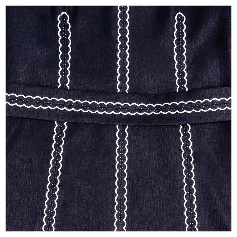 Louis Vuitton Dark Blue & White Cotton Coat For Sale 1