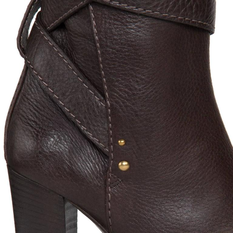 Chloe' Chocolate Brown Boots For Sale 1