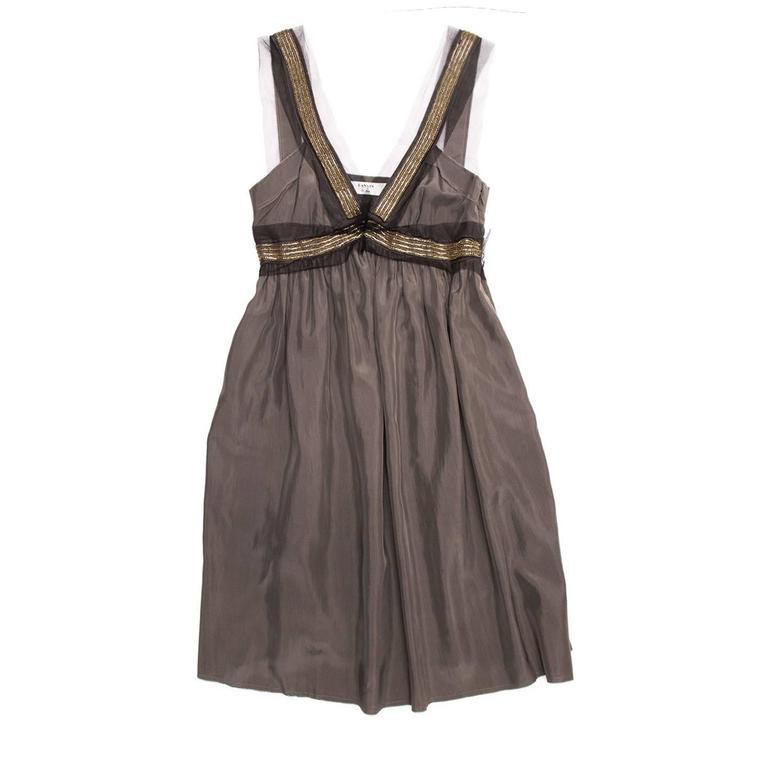 Lanvin Grey Silk Tank Dress 2