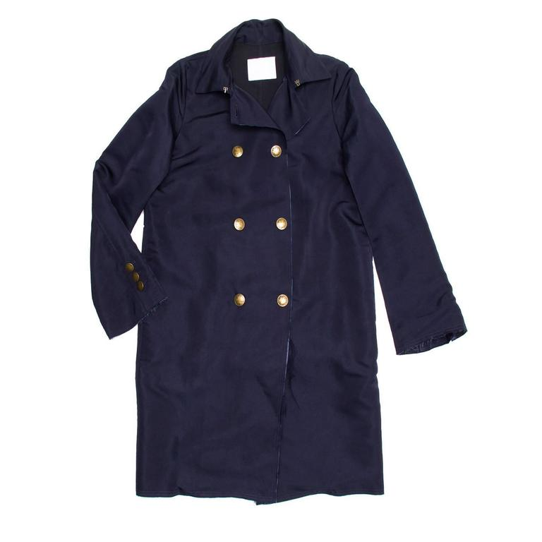 Lanvin Navy Double Breasted Overcoat 2