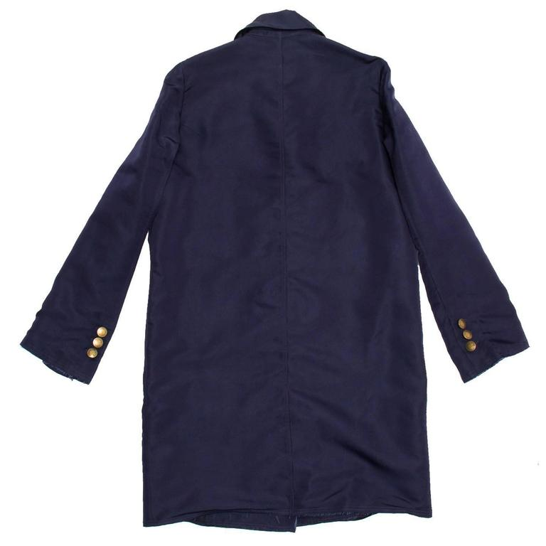 Lanvin Navy Double Breasted Overcoat 3