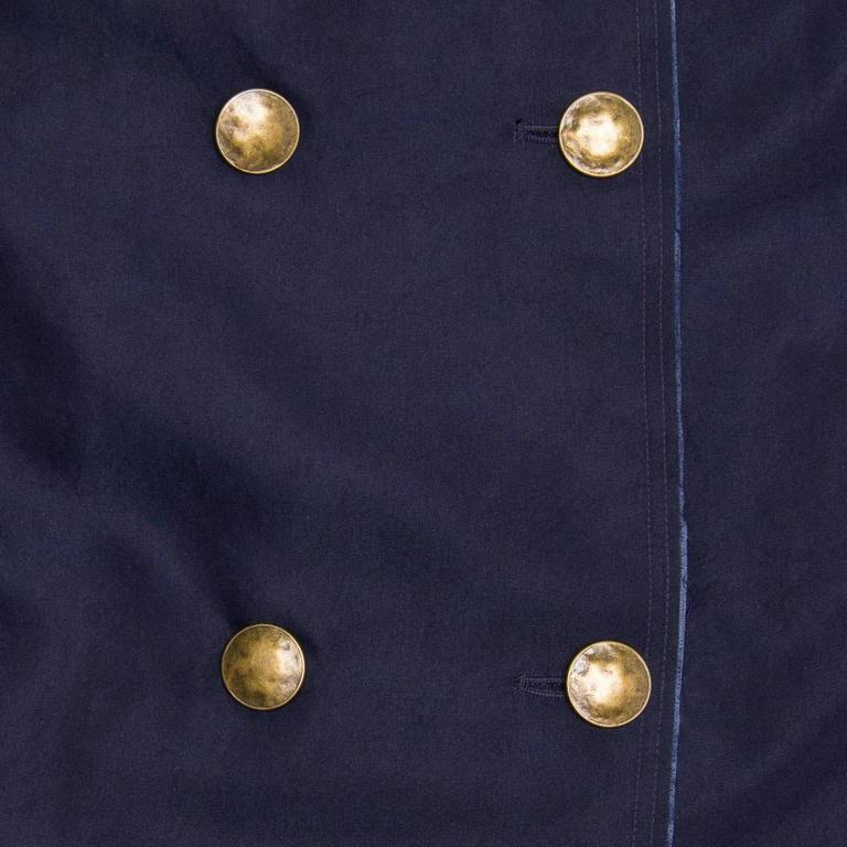 Lanvin Navy Double Breasted Overcoat 5