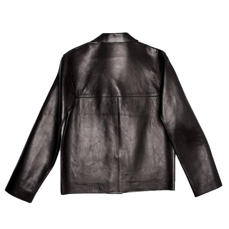 Prada Black & Olive Leather Jacket In Good Condition In Brooklyn, NY