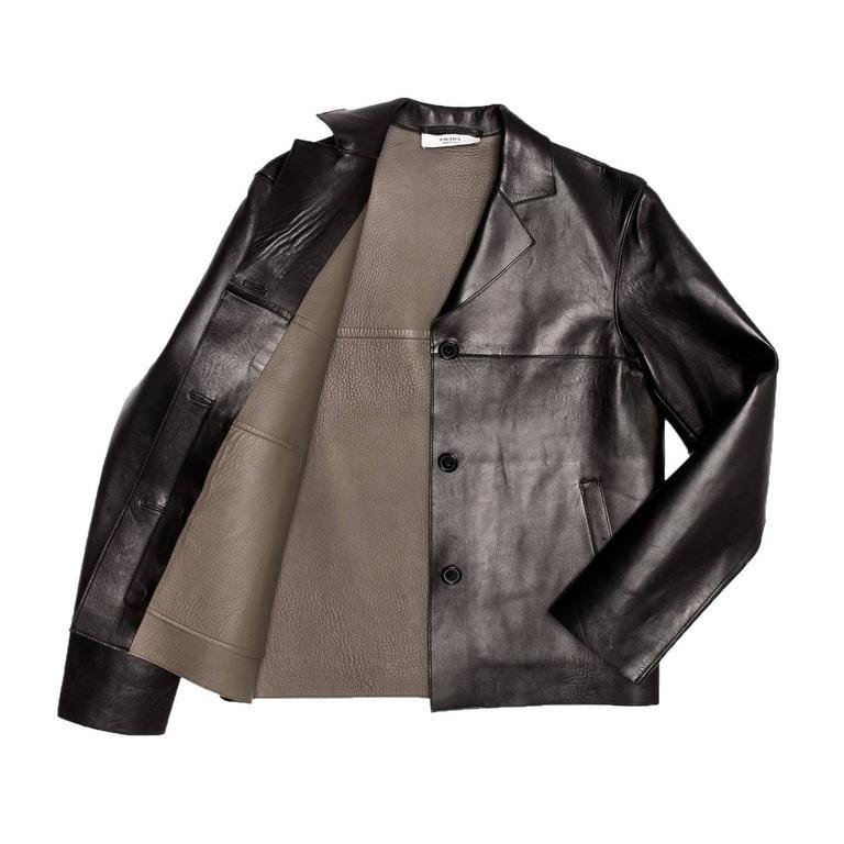 Women's Prada Black & Olive Leather Jacket