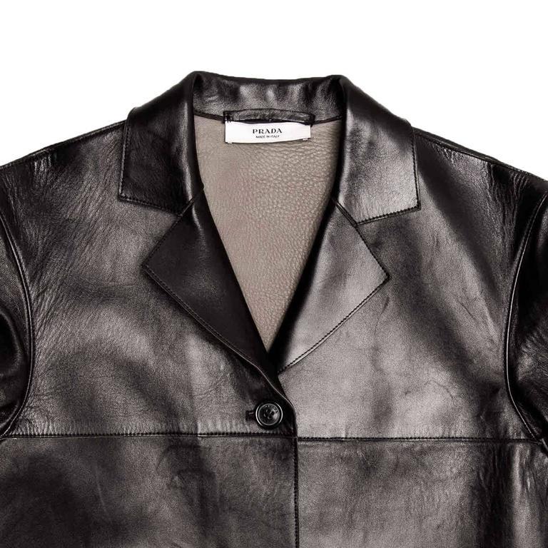 Prada Black & Olive Leather Jacket 1