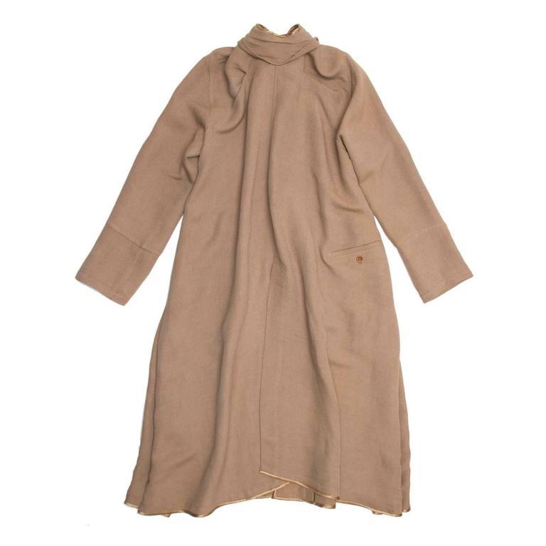Brown Undercover Bronze & Beige Woven Duster Coat For Sale