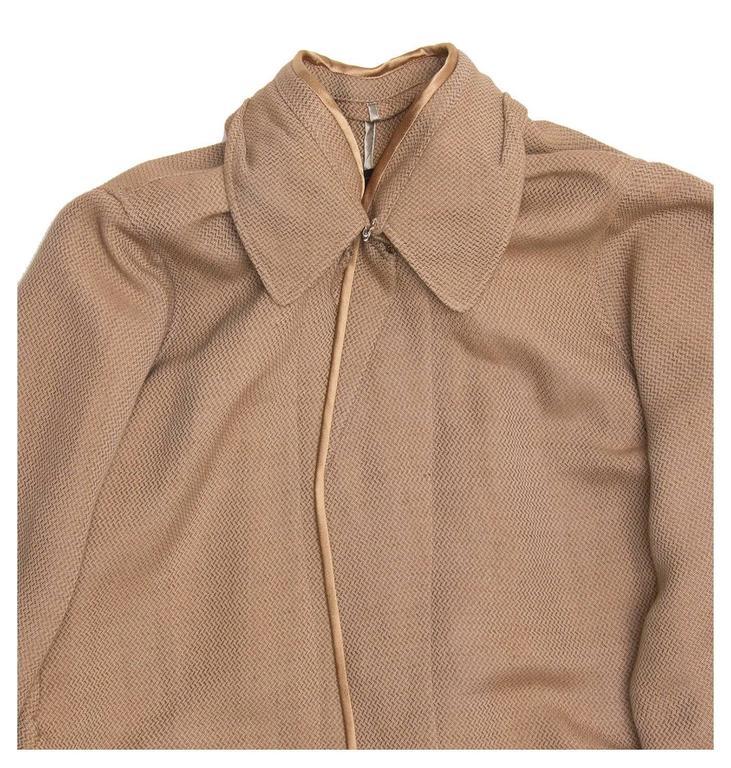 Undercover Bronze & Beige Woven Duster Coat 5